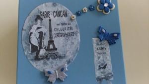 détail couvercle boite carree vintage