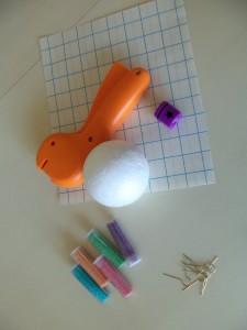 matériel nécessaire pour boule de noël étoilée