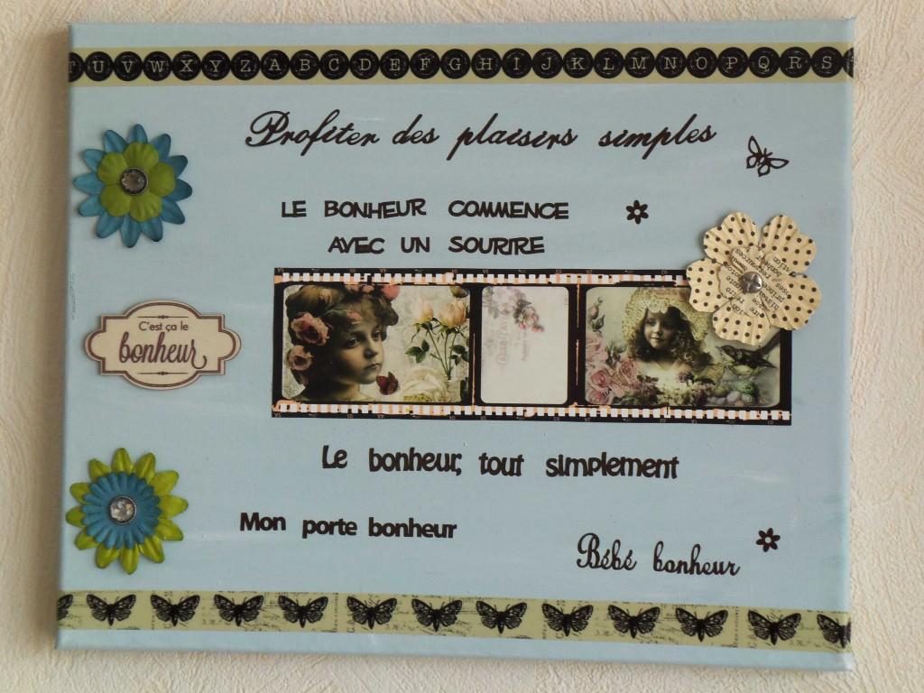 tableau vintage  surle bonheur-deco2sev