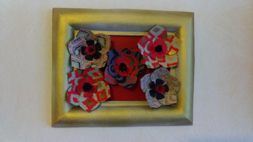 tableaux fleurs tricolores rouge noir et or_deco2sev
