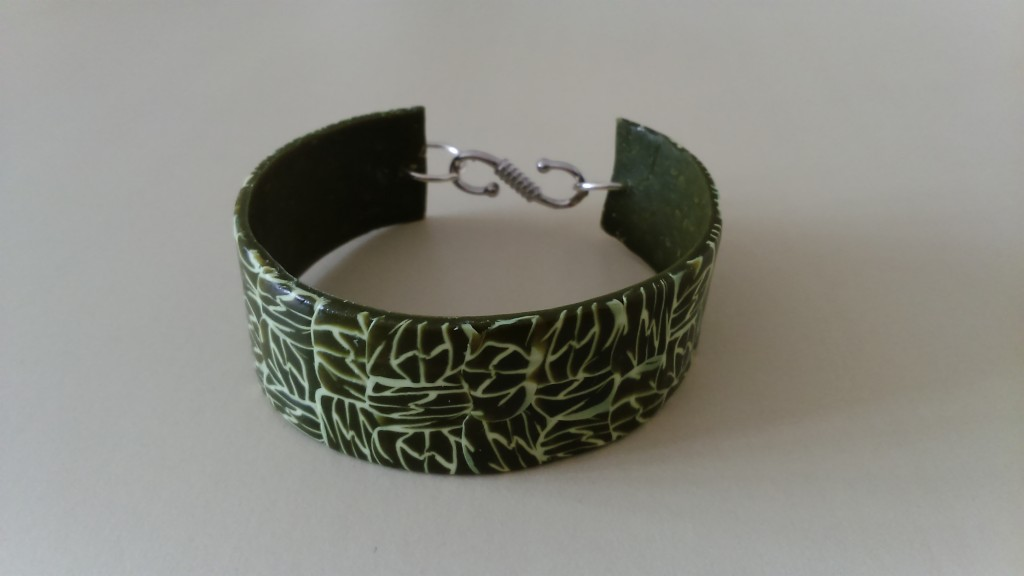 bracelet marbré kaki et vanille_deco2sev