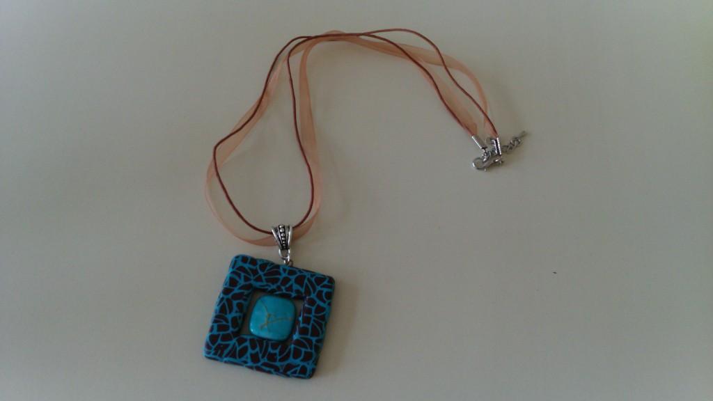 collier carré+perlé turquoise_marron