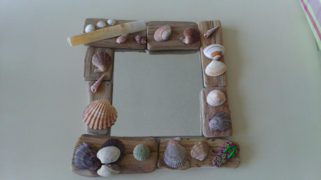 miroir et coquillages