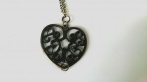 assemblage coeur filigrane